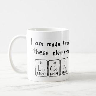 Lucan periodic table name mug