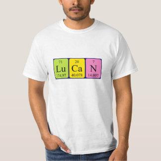 Lucan periodic table name shirt