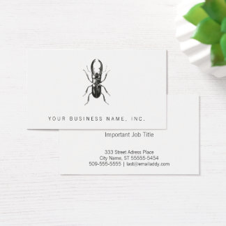 Lucanus Metallicus Beetle Business Card