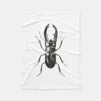 Lucanus Metallicus Beetle Fleece Blanket