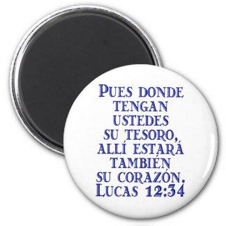 Lucas 12:34 2 inch round magnet
