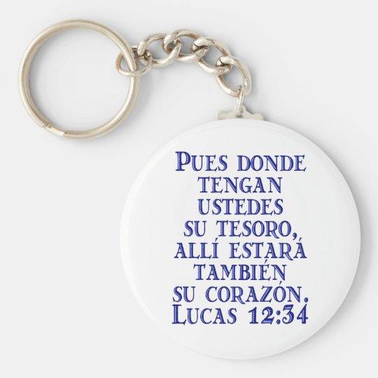 Lucas 12:34 keychain