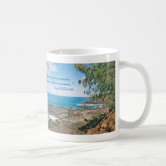 Lucas 21:33 horizontal coffee mug