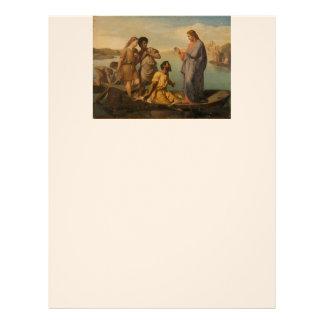 Lucas 5 personaliza escritura del cristianismo de plantilla de membrete
