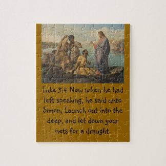 Lucas 5 personaliza escritura del cristianismo de  puzzle