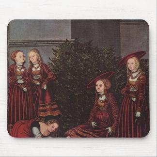 Lucas Cranach el David y el Bathsheba más viejos Tapetes De Raton