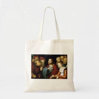 Lucas Cranach el más viejo Cristo y la adúltera Bolsas Lienzo