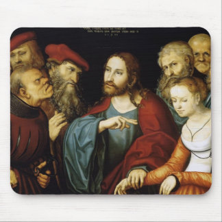 Lucas Cranach el más viejo Cristo y la adúltera Tapete De Ratones