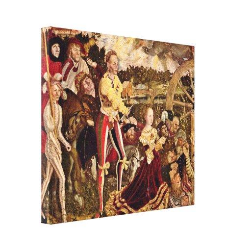 Lucas Cranach (I) - Martyrdom of St Catherine Canvas Print