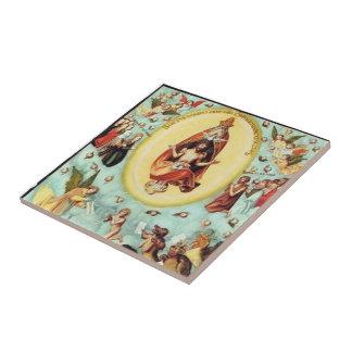 Lucas Cranach la anciano el hombre agonizante Azulejo Cerámica