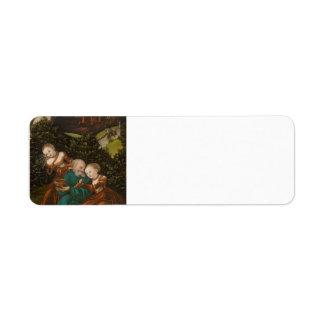 Lucas Cranach la más vieja porción y sus hijas Etiqueta De Remite