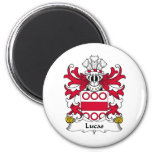 Lucas Family Crest 2 Inch Round Magnet