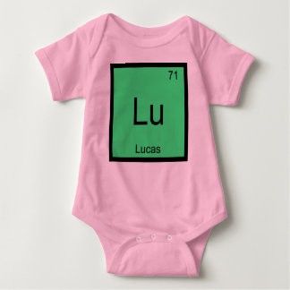 Lucas  Name Chemistry Element Periodic Table Baby Bodysuit