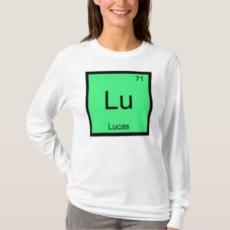 Lucas  Name Chemistry Element Periodic Table T-Shirt