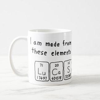 Lucas periodic table name mug