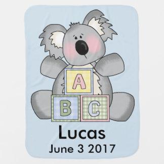 Lucas's Personalized Koala Baby Blanket
