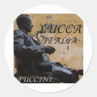 Lucca Italia Puccini jpg Etiqueta Redonda