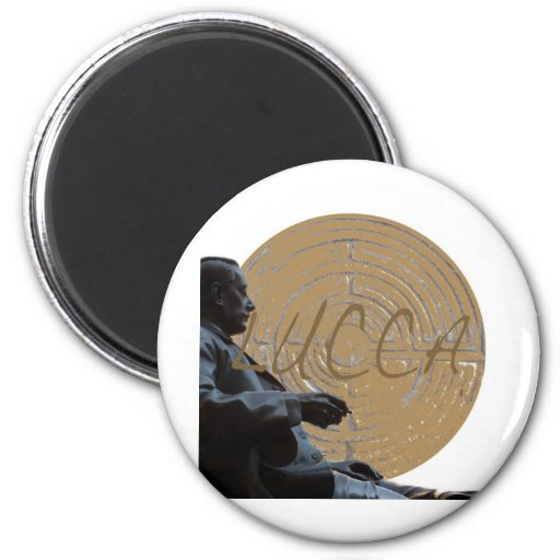 Lucca_Puccini_Italy_Tuscany 2 Inch Round Magnet
