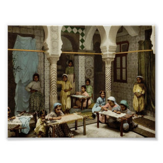 Luce Ben Aben, School of Arab Embroidery, Algiers, Print