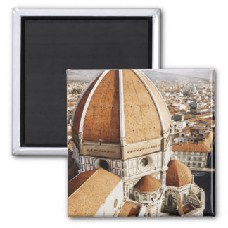 """""""Luce di Firenze"""" The Duomo Italy Watercolor 2 Inch Square Magnet"""
