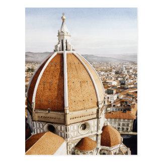 """Luce di Firenze"" The Duomo Italy Watercolor Postcard"