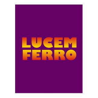 lucem ferro I bring light Postcard