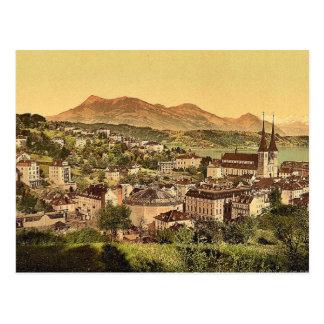 Lucerne and the Rigi, Lake Lucerne, Switzerland vi Postcard