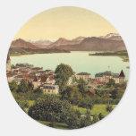 Lucerne, Lake Lucerne, Switzerland vintage Photoch Stickers