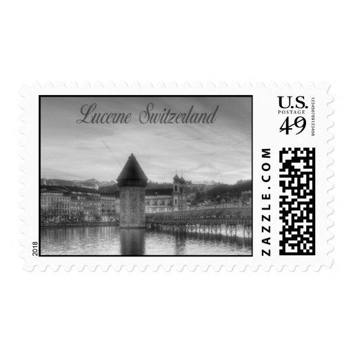 Lucerne (Luzern) Switzerland HDR Photography Postage Stamp