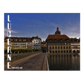 Lucerne old Town Switzerland Postcard Postal