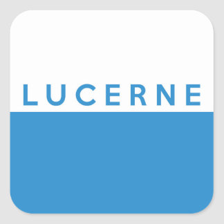 lucerne province Switzerland swiss flag text name Sticker
