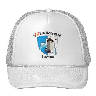 Lucerne Switzerland cap Mesh Hats