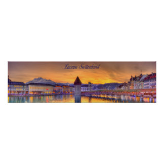 Lucerne Switzerland HDR Panoramic photography Print
