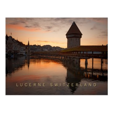 sumners Lucerne Switzerland in the early morning Postcard