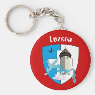 Lucerne Switzerland key supporter Keychain