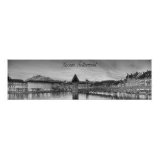 Lucerne Switzerland Panoramic Photography Poster