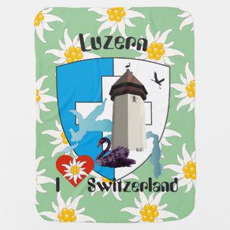 Lucerne Switzerland Switzerland baby cover Swaddle Blanket