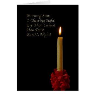 Lucero del alba, oh vista que anima tarjeta de felicitación