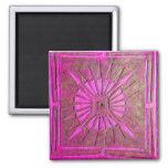 LUCERO DEL ALBA, violeta del rosa Imanes Para Frigoríficos