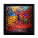 Luces abstractas de la ciudad de la pintura caja de recuerdo