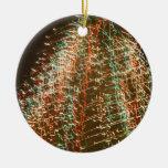 Luces abstractas del árbol de navidad, fondo negro adornos