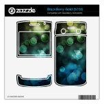 luces abstractas en piel azul de la zarzamora BlackBerry bold 9700 skin