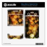 luces abstractas en piel de la zarzamora del oro BlackBerry skins