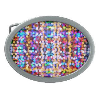 Luces abstractas hebilla de cinturon
