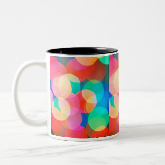luces abstractas taza