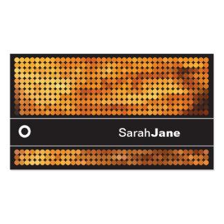 Luces anaranjadas del disco tarjeta de visita