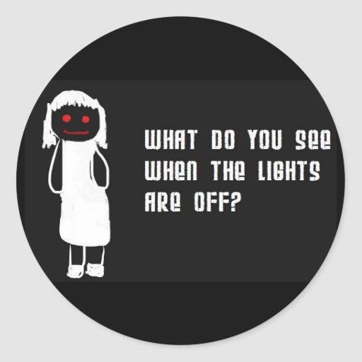 Luces apagado pegatina redonda