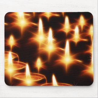 Luces artísticas de la vela alfombrillas de raton