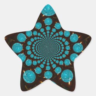 Luces azules pegatina forma de estrella personalizadas