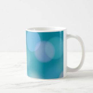 Luces azules suaves de Bokah Taza De Café